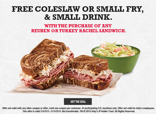 Arby's coupon March 2015
